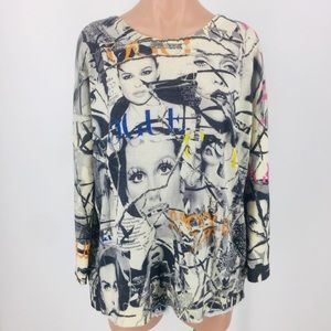 Printed Artworks Vogue Graphic Cashmere Sweater